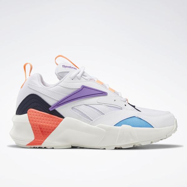 Reebok Aztrek Double Nu Pops Women's Retro Running Shoes in White
