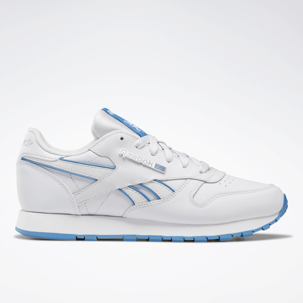 Reebok Classic Leather Women's Lifestyle Shoes in White / Blue