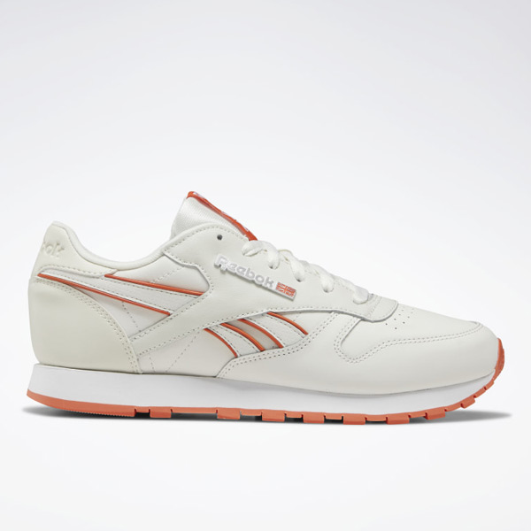 Reebok Classic Leather Women's Lifestyle Shoes in White / Orange