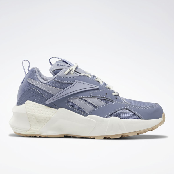 Reebok Aztrek Double Nu Pops Women's Retro Running Shoes in Indigo
