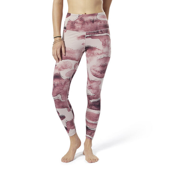 Reebok Yoga LUX Bold High-Rise Tights Women's Leggings in Shell Pink