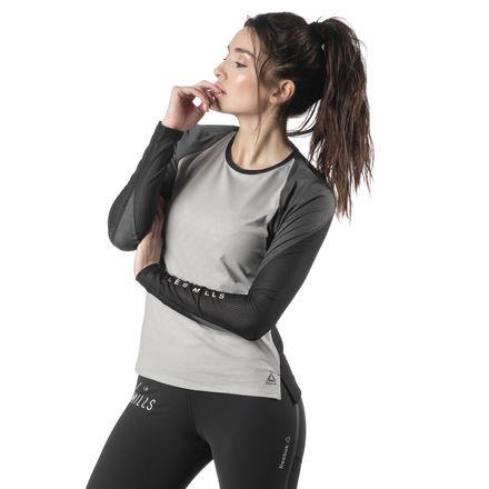 Reebok LES MILLS® SmartVent Women's Studio Tee in Grey