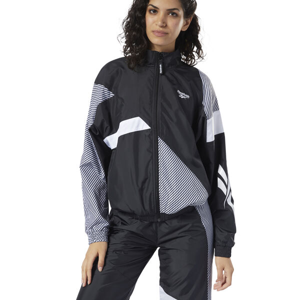 Reebok Classics Women's Vector Track Jacket in Black