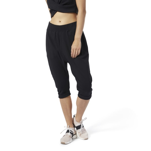Reebok Women's Studio Jersey Pants in Black