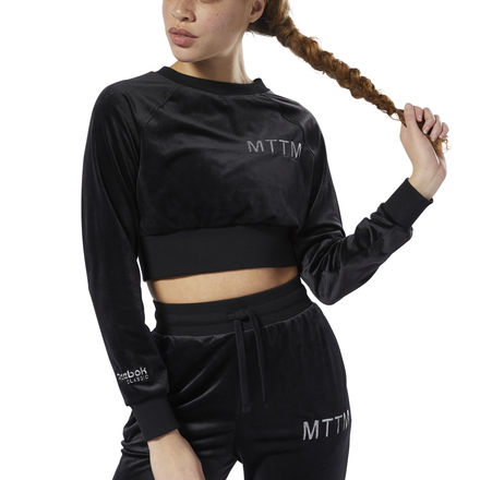 Reebok Classics x Married to the Mob Women's Lifestyle Velvet Sweatshirt in Black