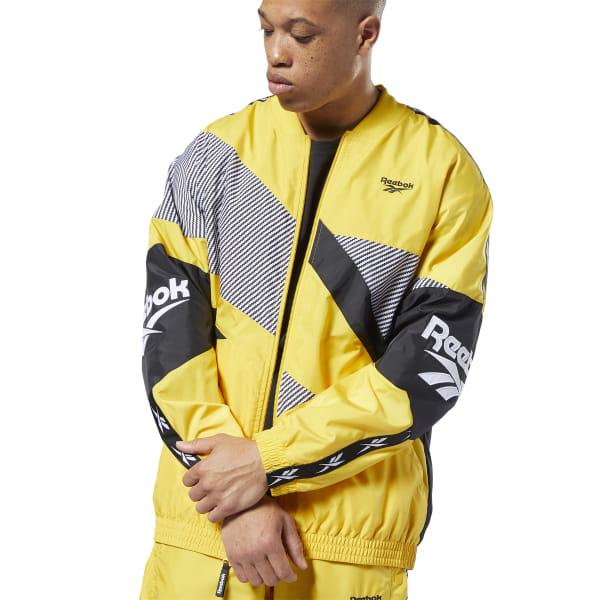 Reebok Men's Lifestyle Classics Vector Jacket in Toxic Yellow