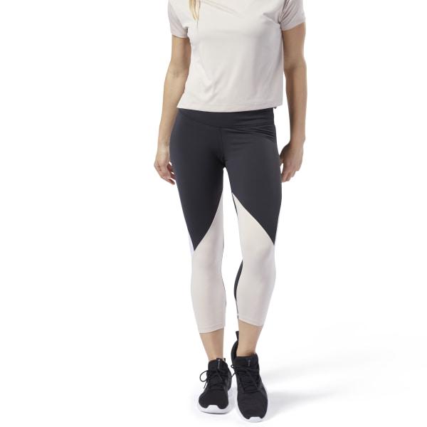 Reebok Lux 3/4 Colorblocked Tights 2.0 Women's Training Leggings in Black / Off White