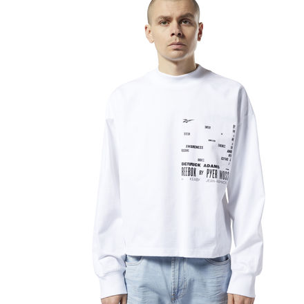 Reebok by Pyer Moss Unisex Lifestyle Crew Sweatshirt in White