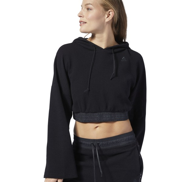 Reebok LES MILLS® Women's Studio Lightweight Hoodie in Black