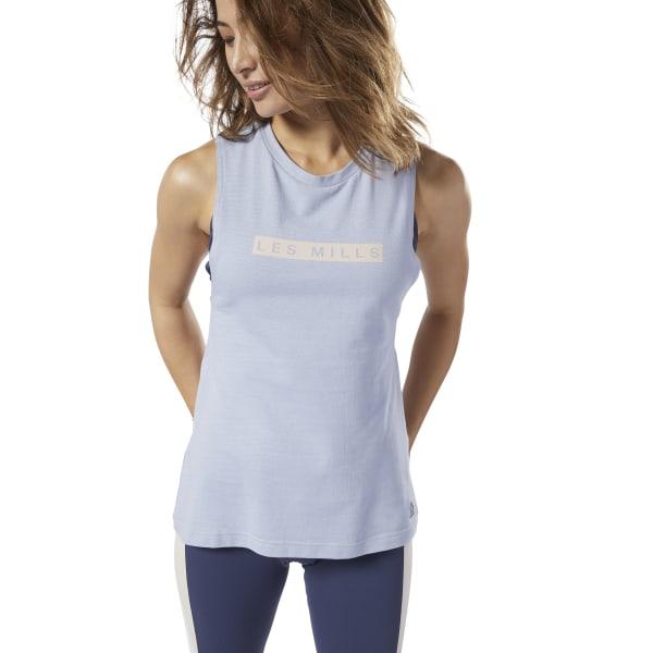 Reebok LES MILLS® Women's Studio Performance Cotton Tank Top in Blue