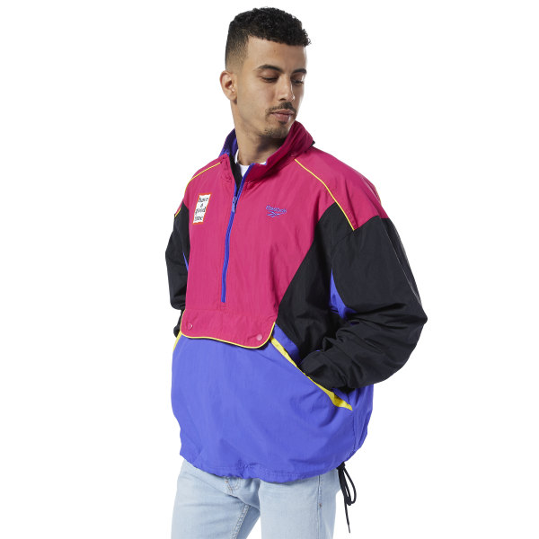 Reebok Classics x Have A Good Time Anorak Unisex Lifestyle Jacket in Black / Pink