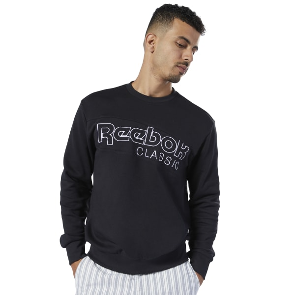 Reebok Classics Men's Lifestyle Sweatshirt in Black