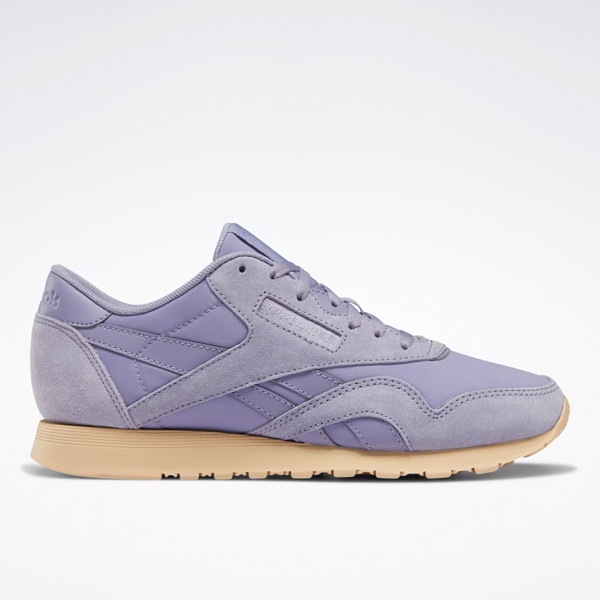 Reebok Classic Nylon Women's Retro Running Shoes in Violet Haze