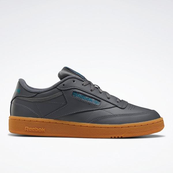 Reebok Club C 85 Men's Court Shoes in Dark Grey