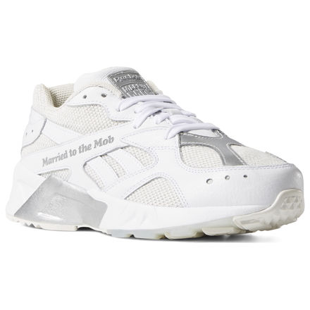 Reebok Aztrek x Married to the Mob Women's Retro Running Shoes in White