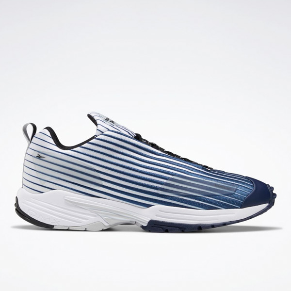 Reebok Unisex DMX Thrill Retro Running Shoes in Navy / White