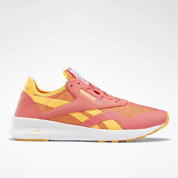 Reebok Classic Nylon Women's Retro Running Shoes in Bright Rose