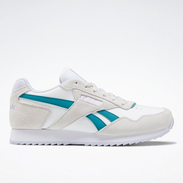 Reebok Women's Classic Harman Ripple Lifestyle Shoes in White / Teal