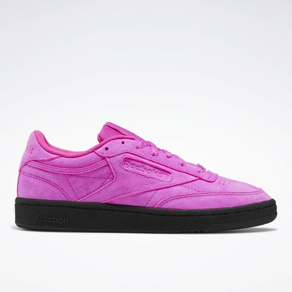 Reebok Club C Women's Tennis Shoes in Dynamic Pink