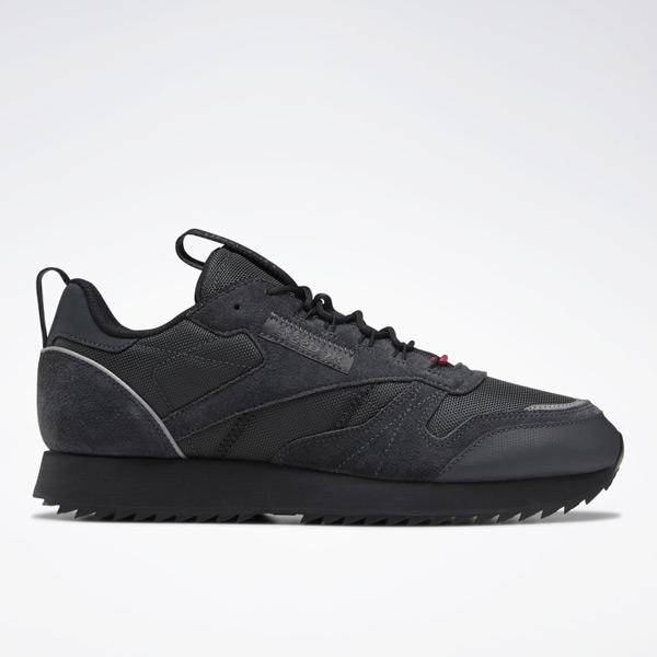 Reebok Leather Ripple Trails Men's Classic Lifestyle Shoes in Black