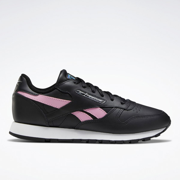 Reebok Classic Leather Women's Lifestyle Shoes in Black / Pink