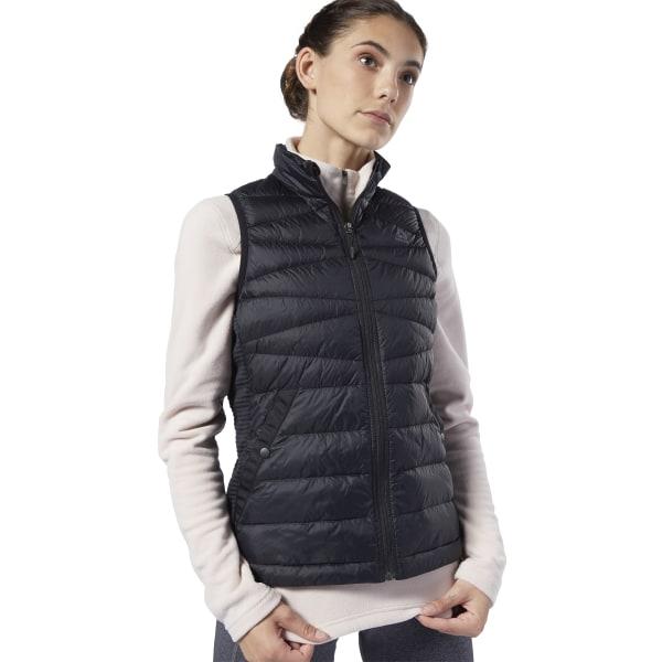 Reebok Women's Outerwear Thermowarm Hybrid Down Vest in Black