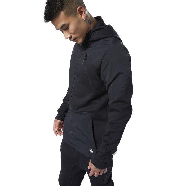 Reebok Training Supply Men's Control Hoodie in Black