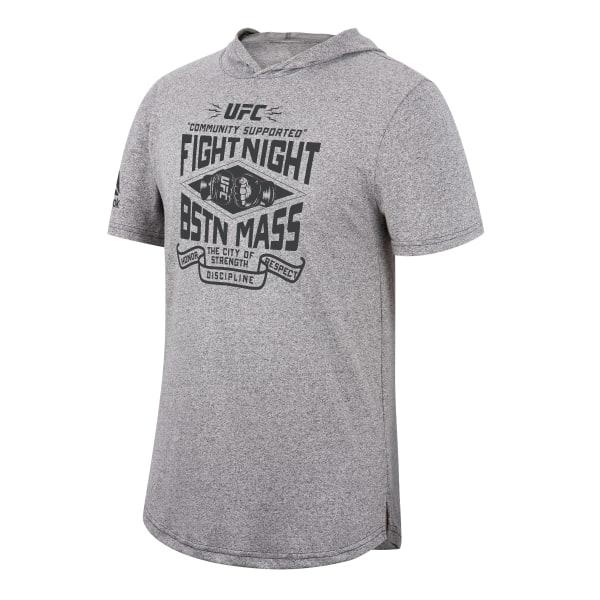 Reebok UFC Fight Night Boston Men's Tee Hoodie in Grey