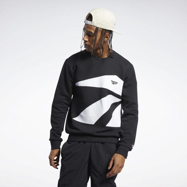 Reebok Classics International Men's Crew Sweatshirt in Black