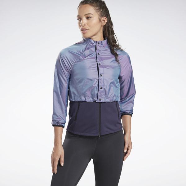 Reebok One Series Women's Running Night Run Jacket in Purple