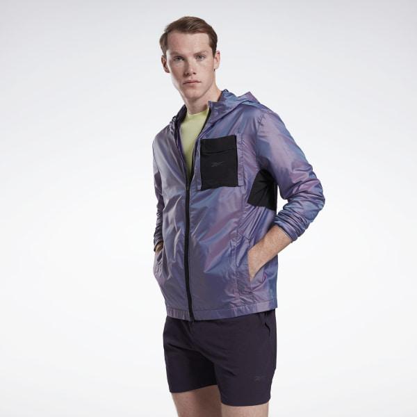 Reebok One Series Running Night Run Jacket in Purple