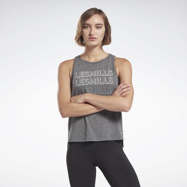 Reebok LES MILLS® ACTIVCHILL+COTTON Women's Tank Top in Grey