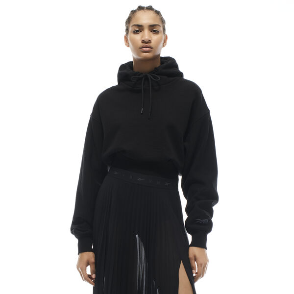 Reebok VB Women's Cropped Hoodie in Black