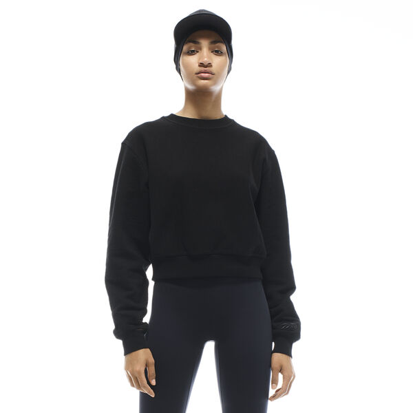 Reebok VB Women's Cropped Sweatshirt in Black