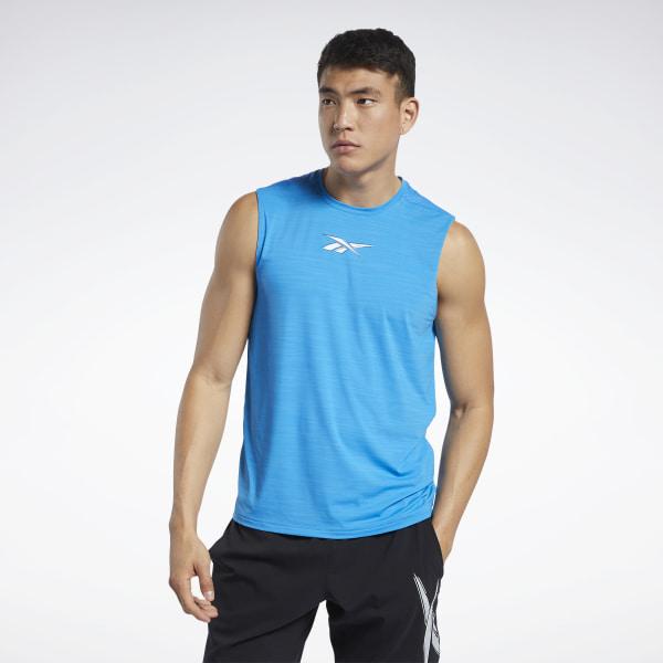 Reebok Workout Ready ACTIVCHILL Men's Training Sleeveless Tee in Blue