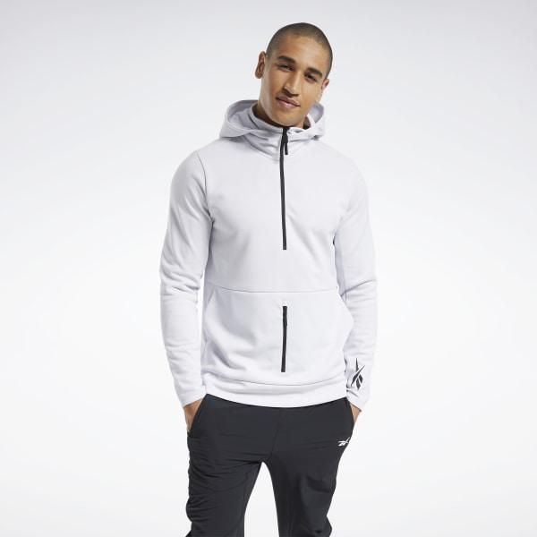 Reebok Knit Half-Zip Control Men's Training Hoodie in White