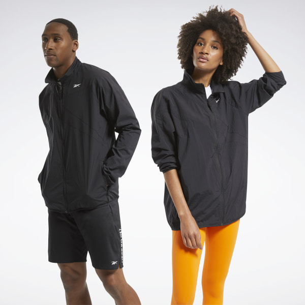 Reebok Unisex Training Track Jacket in Black