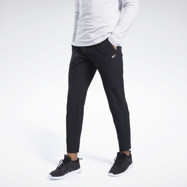 Reebok Tapered Stretch Woven Men's Training Pants in Black