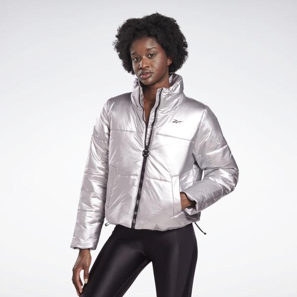 Reebok Women's STUDIO Puffer Jacket in Matte Silver