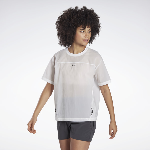 Reebok Night Run Women's Running Woven Shirt in White