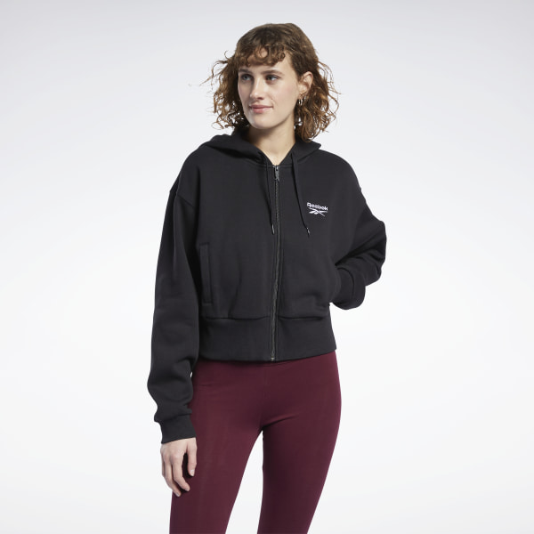 Reebok Women's Classics Vector Hoodie in Black