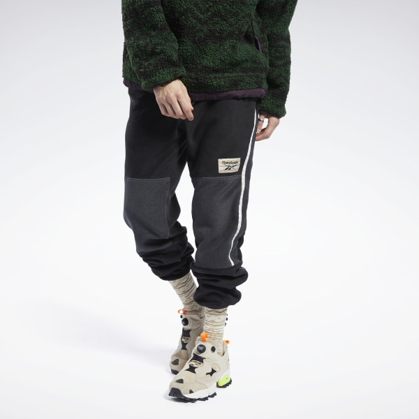Reebok Classics Winter Escape Men's Fleece Pants in Black