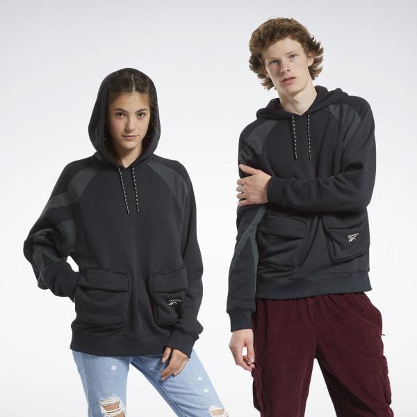 Reebok Unisex Classics Pocket Hoodie in Black