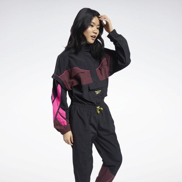 Reebok Classics Boilersuit, Women's Jumpsuit in Black / Pink