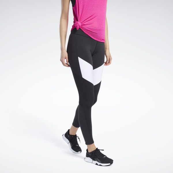 Reebok Lux Colorblock 2 Women's Training Tights in Black / White