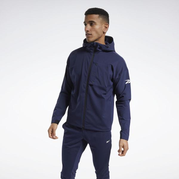 Reebok United By Fitness Men's Training Winterized Jacket in Navy