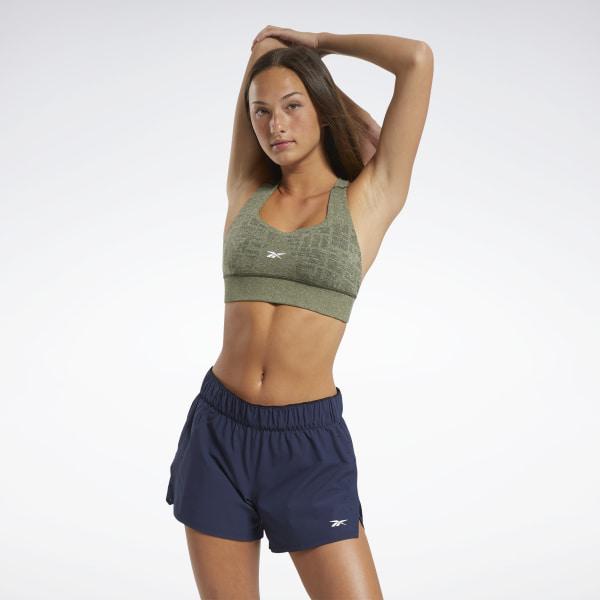 Reebok Women's United By Fitness Myoknit Seamless Sports Bra in Green