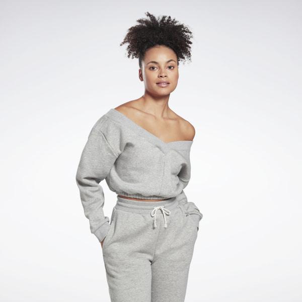 Reebok Women's Studio Restorative Sweatshirt in Grey