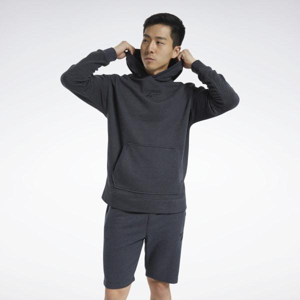Reebok Training Essentials Men's Mélange Hoodie in Black