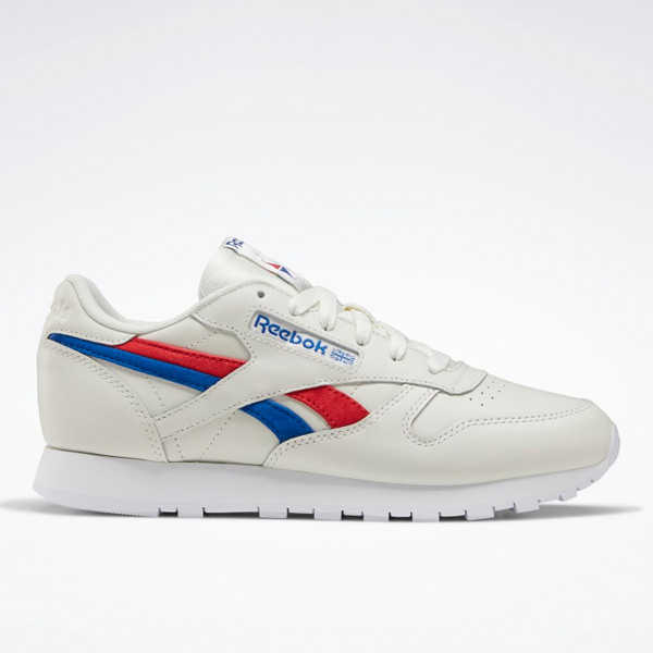 Reebok Women's Classic Leather Lifestyle Shoes in White / Red / Blue